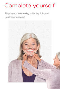 dental implant brochure.